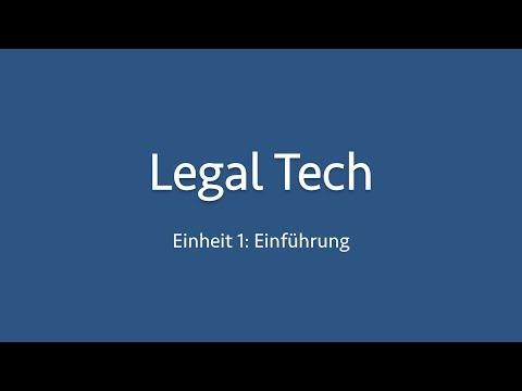 Einführung in Legal Tech – Vorlesung von Prof. Martin Fries