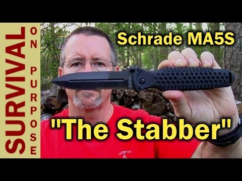 Schrade MA5S Military Tactical Folding Knife Review-Survival Gear