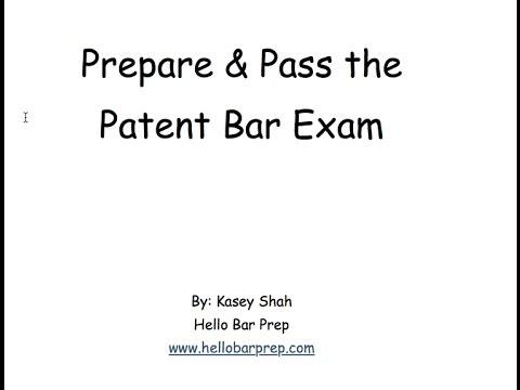 Prepare and Pass Patent Bar Exam - YouTube