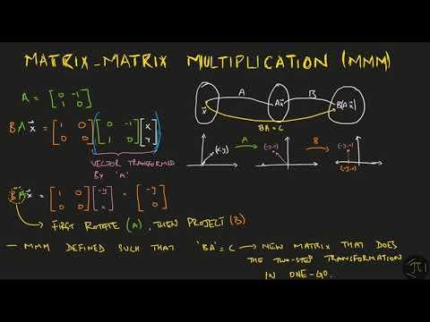 Linear Algebra | S01E05 Matrices & Linear Transformations | B.A/M.A Economics Entrance ISI/DSE