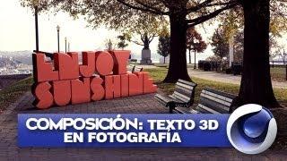 Cinema 4D: Texto 3D Dentro De Imágen En HD - Yiyo Marcelo