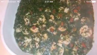 عمل احلي ملوخية بالجمبري / Moulokhia With Shrimp /الشيف أيمن حسن .