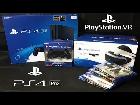 PS4 Pro and PSVR Unboxing - PlayStation 4 Pro and PlayStation VR