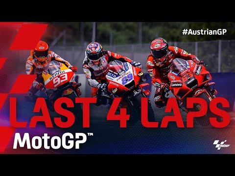 スリックタイヤとレインタイヤの対決となった残り4周だけを収めた動画 MotoGP 2021 第11戦オーストリアGP