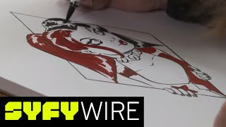 DC Comics Artist Amanda Conner Sketches Harley Quinn (Artists Alley) | SYFY WIRE