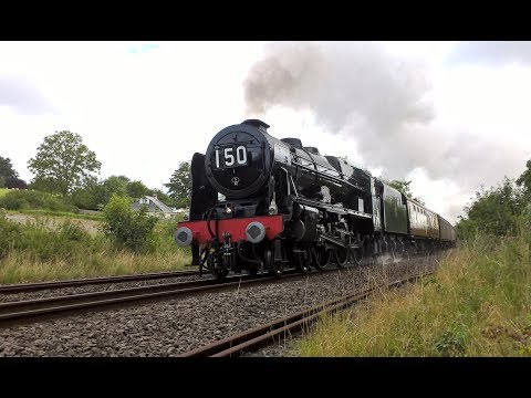 LMS 46100 'Royal Scot climbs to Whiteball Tunnel and again a…