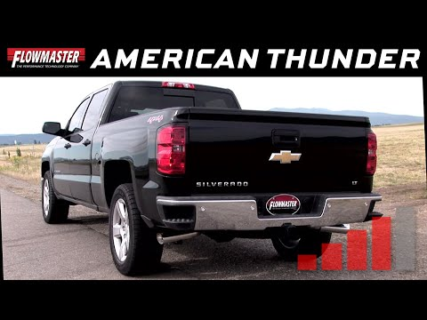 2014-19* GM Silverado/Sierra 1500 4.3L, 5.3L - American Thunder Cat-back Exhaust System 817669