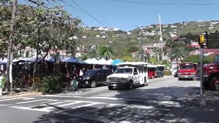 preview picture of video 'Walk from St. Thomas Cruise Ship Port to Charlotte Amalie Waterfront'