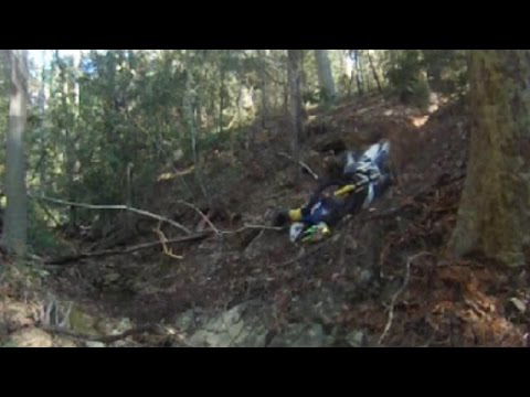 2015 Husqvarna TE 250 Extreme Enduro Crash