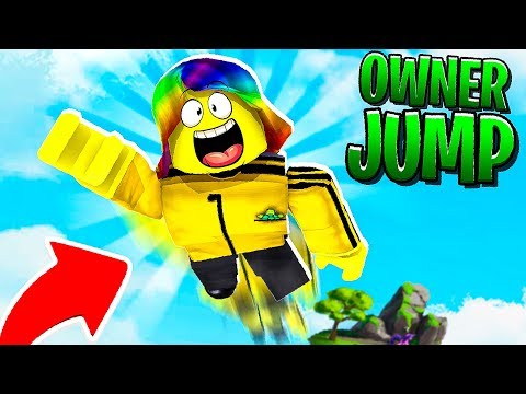 I used OWNER POWERS and JUMPED 999,999,999 FEET.. (Roblox)