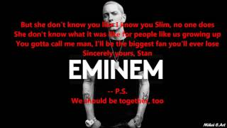 Eminem - Stan  ft Dido with LYRICS (clean, short version)