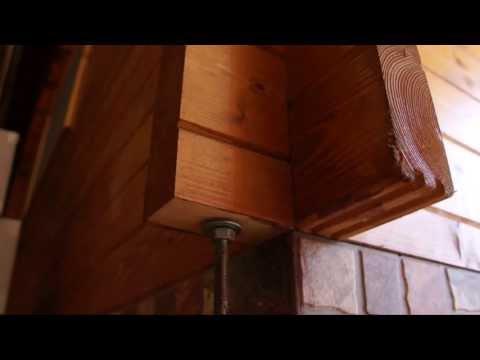 Protección contra el viento en las casas de madera