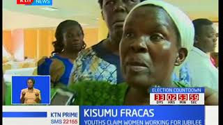 Drama in Kisumu when rowdy youths storm a meeting of women group threatening to lynch them of IDs