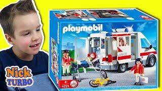 Машинка Скорой помощи. Игрушка и конструктор. Обзор и развивающее видео для детей Собираем Playmobil
