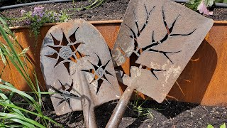 Plasma Cut Shovel Heads - SO EASY GARDEN ART!!!
