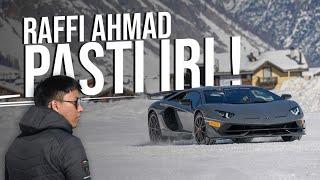 Ngepot Pake Lamborghini 20 Milyar di Salju