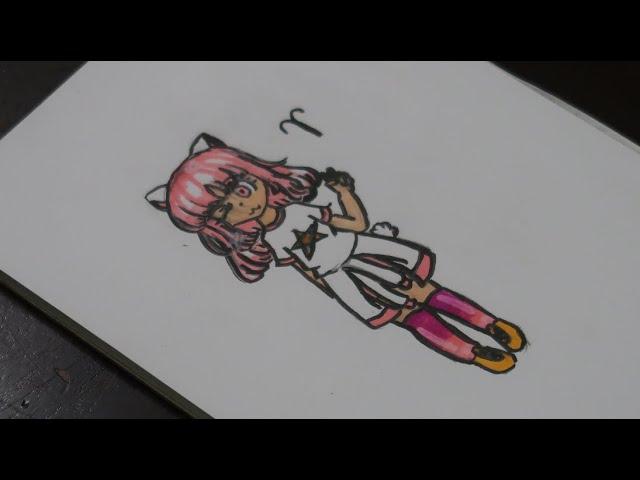 Cách vẽ Anime 12 cung hoàng đạo | Cung Bạch Dương | bé CIU vẽ Anime cung Bạch Dương dễ thương nhất