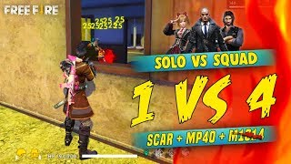 One vs Four Scar Lover is OP - Garena Free Fire- Total Gaming