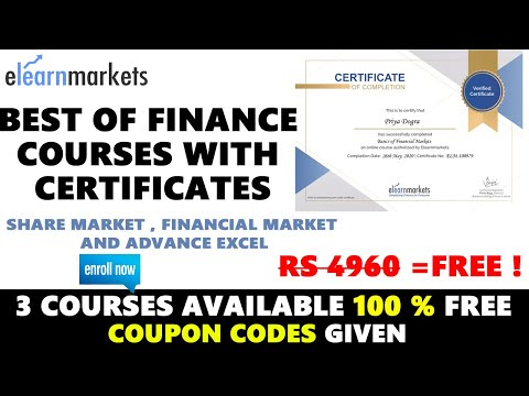 Best Finance Courses 2021 | Stock Market | Free Certificate