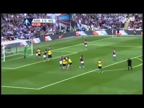 Goals Arsenal vs Aston Villa FA Cup final England