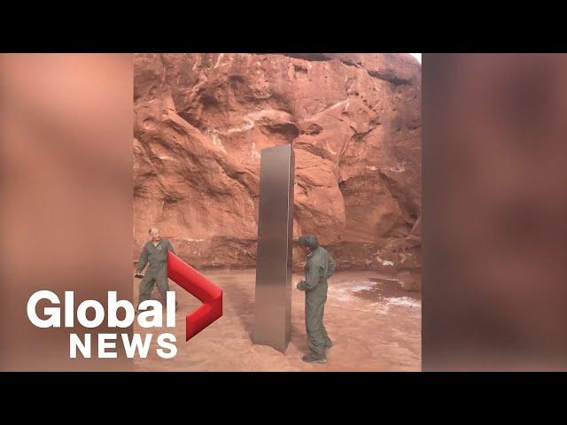 В пустыне Юты найдена чрезвычайно странная металлическая призма