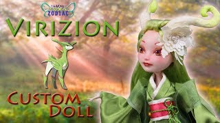 [POKEMON ZODIAC #6] Custom Doll Repaint! Capricorn – Virizion Forest Spirit MH/EAH OOAK