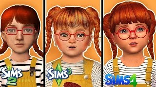 Create the same Sim in Sims 2, 3 & 4 | Cute Toddler (with CC)