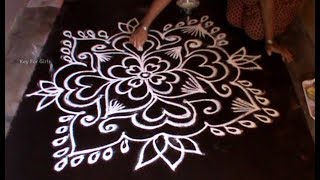 Latest Rangoli Designs 2018 For Pongal | Sankranthi Muggulu Kolam Designs With Dots | Key For Girls