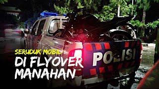 Seruduk Mobil di Turunan Flyover Manahan, Pengendara Motor Alami Luka Sobek Bagian Kepala Belakang