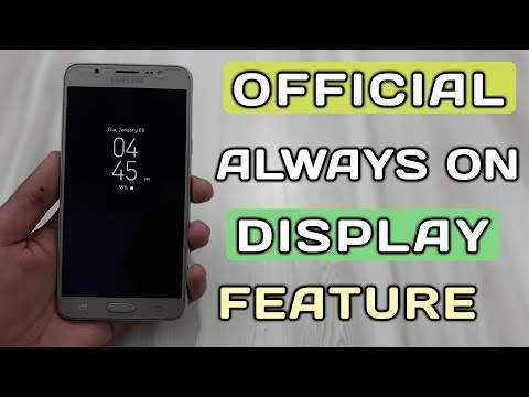 New Always on display features in samsung smartphones,Samsung J7 pro