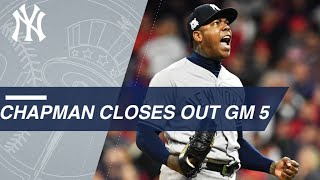 Aroldis Chapman closes out the ALDS Game 5 to help send the Yankees to the ALCS | Kholo.pk