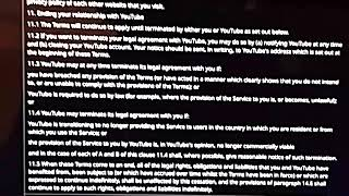 New Terms of Service Effective from January 22, 2019 (pt. 11-14 end.)