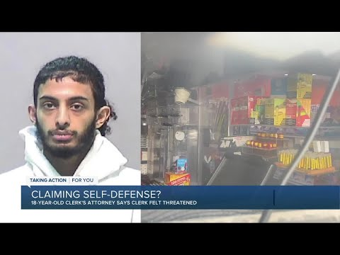 Gas Station Clerk Making Self Defend Claim