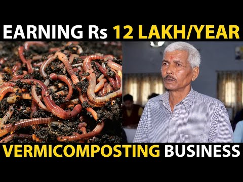 , title : 'VERMICOMPOST BUSINESS - This Farmer is Earning 12 Lakh / Year..! | Farmers Success Stories