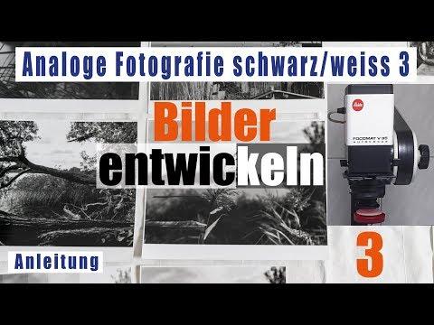 Teil 3/4 Analoge Fotografie schwarz/weiß Bilder entwickeln deutsch Fotolabor