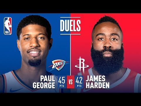 Paul George & James Harden Both Go For 40+ POINTS In Houston | February 9, 2019
