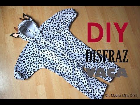 DIY Tutorial: Disfraz de vaca para niños (patrones gratis)