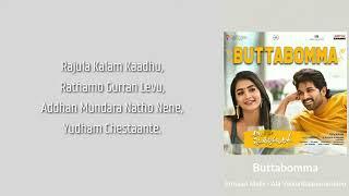 Buttabomma | Armaan Malik | Ala Vaikunthapurramloo | (Lyrics)