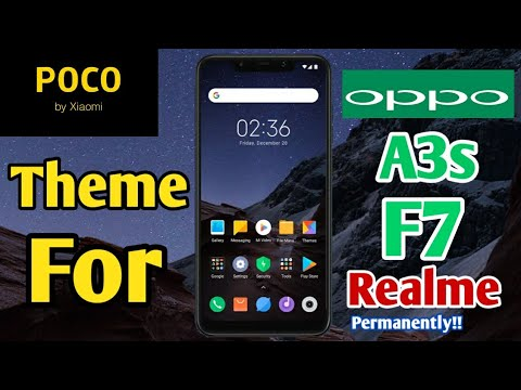 POCO theme for oppo a3s,f7,f5,f9,realme  - смотреть онлайн