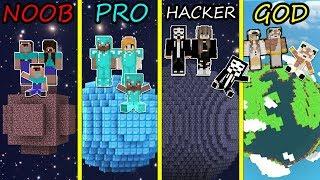 Minecraft Battle: NOOB vs PRO vs HACKER vs GOD: FAMILY IS BUILDING PLANET FOR BABY! Animation!