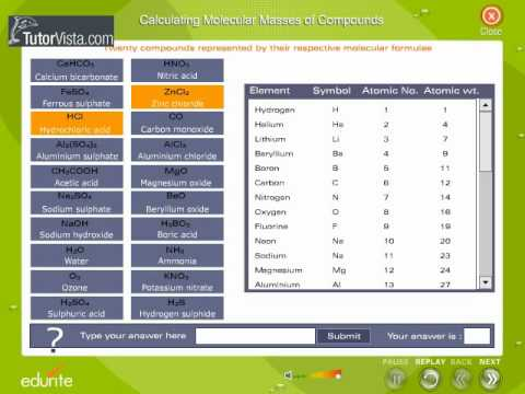 Calculating Molecular Masses Of Compounds