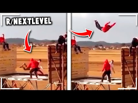 r/NextLevel | *FLYING* on a Moving Truck