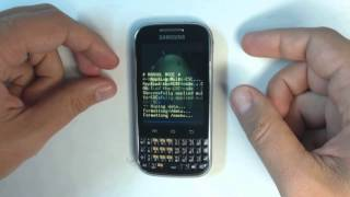 Samsung Galaxy Ch@t  B5330 - How to reset - Como restablecer datos de fabrica
