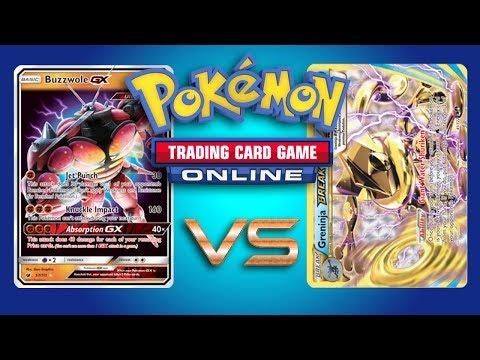 Buzzwole GX / Garbodor vs Greninja BREAK – Pokemon TCG Online Gameplay