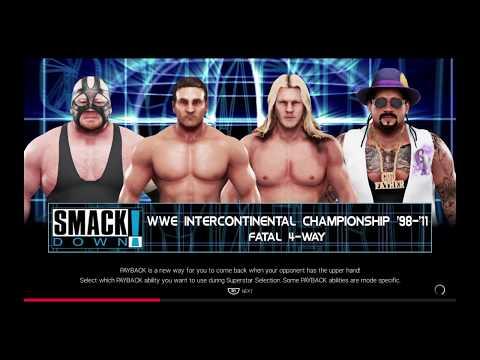 WWE 2K19 Ken Shamrock VS Jericho '00,Vader,Godfather Fatal 4-Way Match Intercontinental Title '98