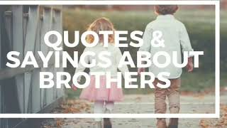 Sayings & Quotes about Brothers | Brother quotes | Whatsapp status, Greetings, Messages #quotes