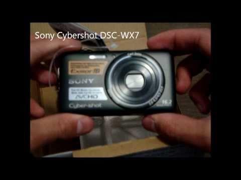 Sony Cybershot DSC-WX7 Unboxing