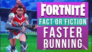 Fortnite Fact or Fiction - Run Faster While Holding Weapons