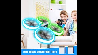 Q9s Drones for Kids, RC Drone with Altitude Hold and Headless Mode, Quadcopter with Blue&Green Light