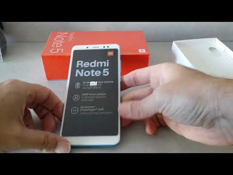 Unboxing Xiaomi Redmi Note 5 Global Version 4/64 Blue and Black from BANGGOOD